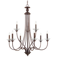 Sea Gull Lighting Lemont 9 Light Chandelier in Burnt Sienna 31319-710
