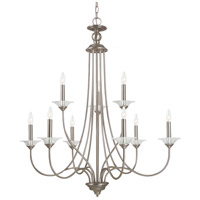 Sea Gull Lighting Lemont 9 Light Chandelier in Antique Brushed Nickel 31319-965 photo thumbnail