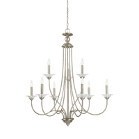 Lemont 9 Light 34 inch Antique Brushed Nickel Chandelier Ceiling Light