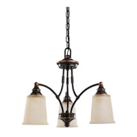 Sea Gull Warwick 3 Light Chandelier Single-Tier in Autumn Bronze 31330-715