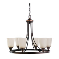 Sea Gull Warwick 6 Light Chandelier Single-Tier in Autumn Bronze 31331-715