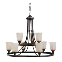Sea Gull Warwick 9 Light Chandelier Multi-Tier in Autumn Bronze 31332-715