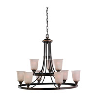 Sea Gull Lighting Warwick 9 Light Chandelier in Vintage Bronze 31332-825