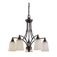 Sea Gull Warwick 5 Light Chandelier Single-Tier in Autumn Bronze 31333-715
