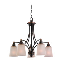 Sea Gull Lighting Warwick 5 Light Chandelier in Vintage Bronze 31333-825 photo thumbnail