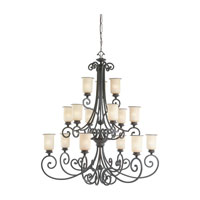 Acadia 15 Light 49 inch Misted Bronze Chandelier Ceiling Light in Standard