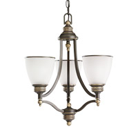 Laurel Leaf 3 Light 18 inch Estate Bronze Chandelier Ceiling Light