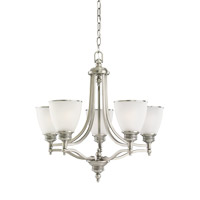 Laurel Leaf 5 Light 25 inch Antique Brushed Nickel Chandelier Ceiling Light