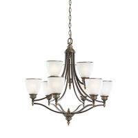 Laurel Leaf 9 Light 30 inch Estate Bronze Chandelier Ceiling Light