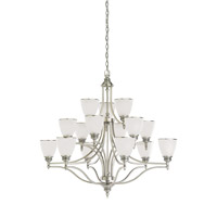 Laurel Leaf 15 Light 42 inch Antique Brushed Nickel Chandelier Ceiling Light