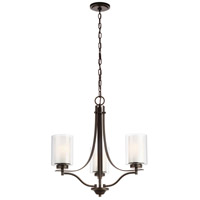 Sea Gull 3137303EN3-782 Elmwood Park 3 Light 21 inch Heirloom Bronze Chandelier Ceiling Light