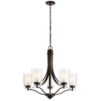 Sea Gull 3137305EN3-782 Elmwood Park 5 Light 26 inch Heirloom Bronze Chandelier Ceiling Light