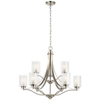 Sea Gull 3137309-962 Elmwood Park 9 Light 32 inch Brushed Nickel Chandelier Ceiling Light