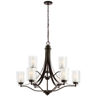 Sea Gull 3137309EN3-782 Elmwood Park 9 Light 32 inch Heirloom Bronze Chandelier Ceiling Light