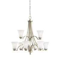 Somerton 9 Light 30 inch Antique Brushed Nickel Chandelier Ceiling Light