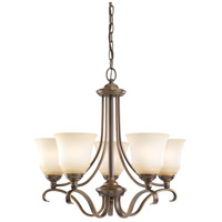Sea Gull 31380-829 Parkview 5 Light 24 inch Russet Bronze Chandelier Ceiling Light in Ginger Glass photo thumbnail