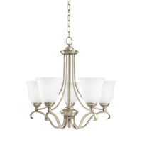 Parkview 5 Light 24 inch Antique Brushed Nickel Chandelier Ceiling Light