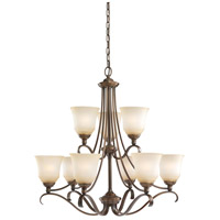Sea Gull 31381-829 Parkview 9 Light 31 inch Russet Bronze Chandelier Ceiling Light in Ginger Glass photo thumbnail