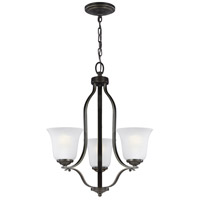 Sea Gull 3139003-782 Emmons 3 Light 20 inch Heirloom Bronze Chandelier Ceiling Light