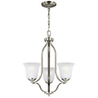 Sea Gull 3139003-962 Emmons 3 Light 20 inch Brushed Nickel Chandelier Ceiling Light
