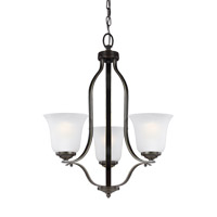 Sea Gull 3139003EN3-782 Emmons 3 Light 20 inch Heirloom Bronze Chandelier Ceiling Light