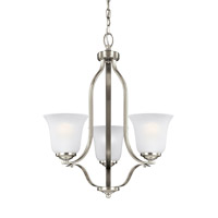 Emmons 3 Light 20 inch Brushed Nickel Chandelier Ceiling Light