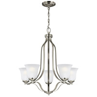 Emmons 5 Light 24 inch Brushed Nickel Chandelier Ceiling Light