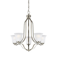 Sea Gull 3139005EN3-962 Emmons 5 Light 24 inch Brushed Nickel Chandelier Ceiling Light
