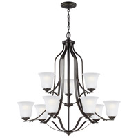 Emmons 9 Light 35 inch Heirloom Bronze Chandelier Ceiling Light