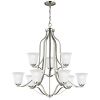 Sea Gull 3139009-962 Emmons 9 Light 35 inch Brushed Nickel Chandelier Ceiling Light