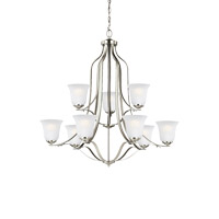 Sea Gull 3139009EN3-962 Emmons 9 Light 35 inch Brushed Nickel Chandelier Ceiling Light