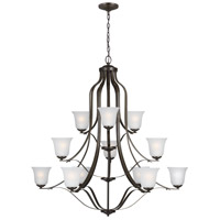 Sea Gull 3139012-782 Emmons 12 Light 45 inch Heirloom Bronze Chandelier Ceiling Light