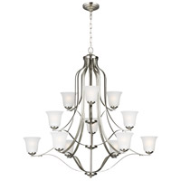 Sea Gull 3139012-962 Emmons 12 Light 45 inch Brushed Nickel Chandelier Ceiling Light