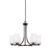 Sea Gull 3139106-710 Hettinger 6 Light 25 inch Burnt Sienna Chandelier Ceiling Light