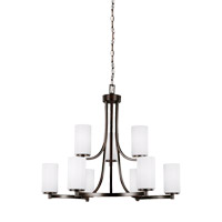 Sea Gull 3139109EN3-710 Hettinger 9 Light 30 inch Burnt Sienna Chandelier Ceiling Light