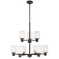 Sea Gull 3139809-710 Norwood 9 Light 28 inch Burnt Sienna Chandelier Ceiling Light