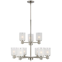 Sea Gull 3139809-962 Norwood 9 Light 28 inch Brushed Nickel Chandelier Ceiling Light