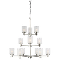 Sea Gull 3139812-962 Norwood 12 Light 36 inch Brushed Nickel Chandelier Ceiling Light
