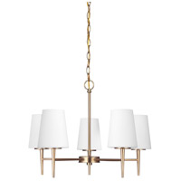 Driscoll 5 Light 25 inch Satin Bronze Chandelier Single-Tier Ceiling Light in Fluorescent