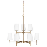 Sea Gull 3140409-848 Driscoll 9 Light 32 inch Satin Bronze Chandelier Ceiling Light