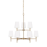 Sea Gull 3140409EN3-848 Driscoll 9 Light 32 inch Satin Bronze Chandelier Ceiling Light