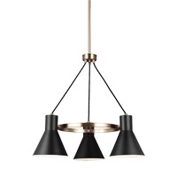 Towner 3 Light 24 inch Satin Bronze Chandelier Ceiling Light