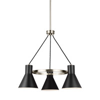 Towner 3 Light 24 inch Brushed Nickel Chandelier Ceiling Light