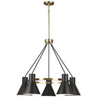 Towner 5 Light 29 inch Satin Bronze Chandelier Ceiling Light