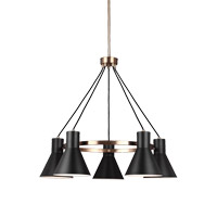 Sea Gull 3141305EN3-848 Towner 5 Light 29 inch Satin Bronze Chandelier Ceiling Light photo thumbnail
