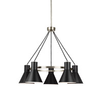 Sea Gull 3141305EN3-962 Towner 5 Light 29 inch Brushed Nickel Chandelier Ceiling Light