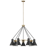 Towner 7 Light 35 inch Satin Bronze Chandelier Ceiling Light