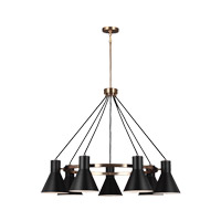 Sea Gull 3141307EN3-848 Towner 7 Light 35 inch Satin Bronze Chandelier Ceiling Light
