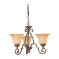Sea Gull Lighting Brandywine 3 Light Chandelier in Antique Bronze 31430-71