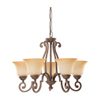 Sea Gull Lighting Brandywine 5 Light Chandelier in Antique Bronze 31431-71 photo thumbnail